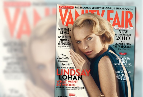 Logan covers the October issue of Vanity Fair. In this issue, Lohan speaks ...