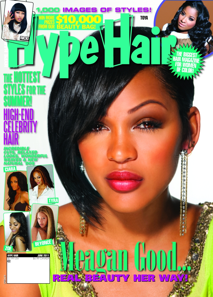 Meagan Good Covers Hype Hair Magazine [June 2011]  
