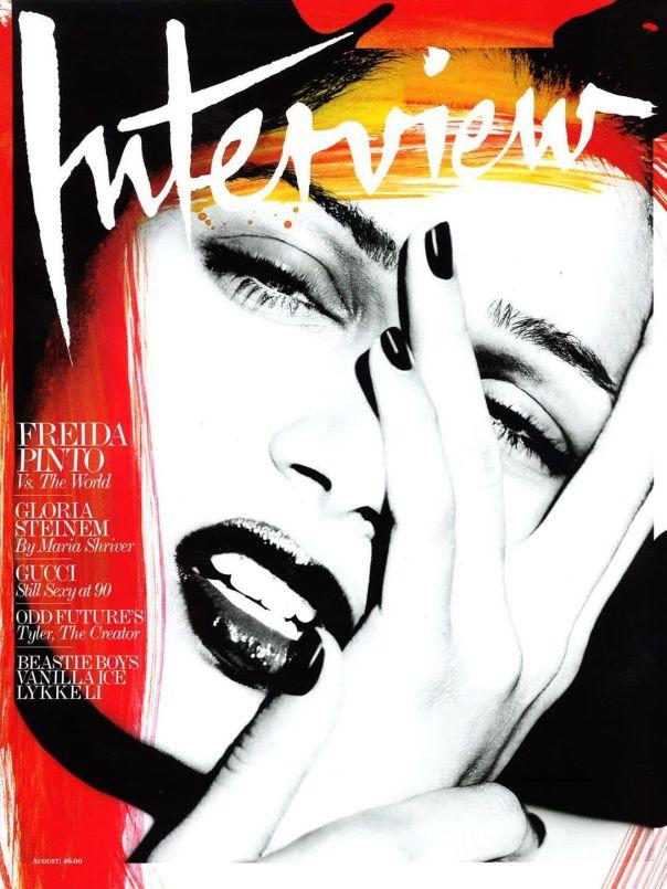 Freida Pinto's Artsy 'Interview' Magazine Cover |