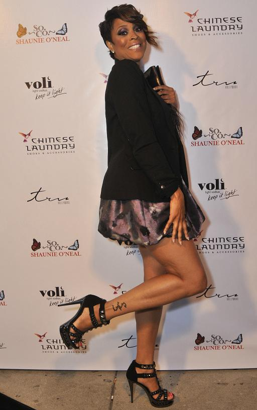 Basketball wives party it up for shaunie o neal shoe - Shaunie o neal house ...