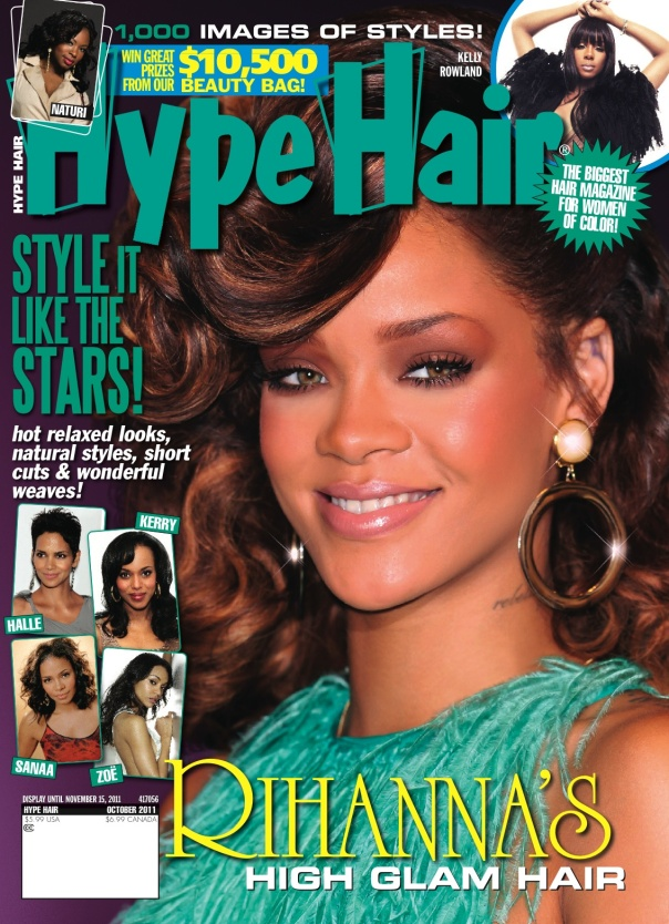 Rihanna Covers October Issue Of \'Hype Hair\' |