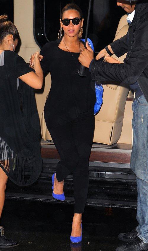 Black Dress And Royal Blue