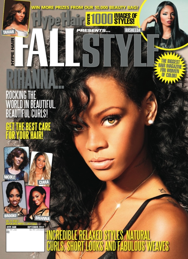 Rihanna Covers September Issue of \'Hype Hair\' |