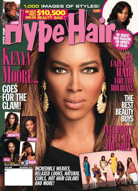Rhoa Kenya Moore Covers Hype Hair Magazine Photo Spread