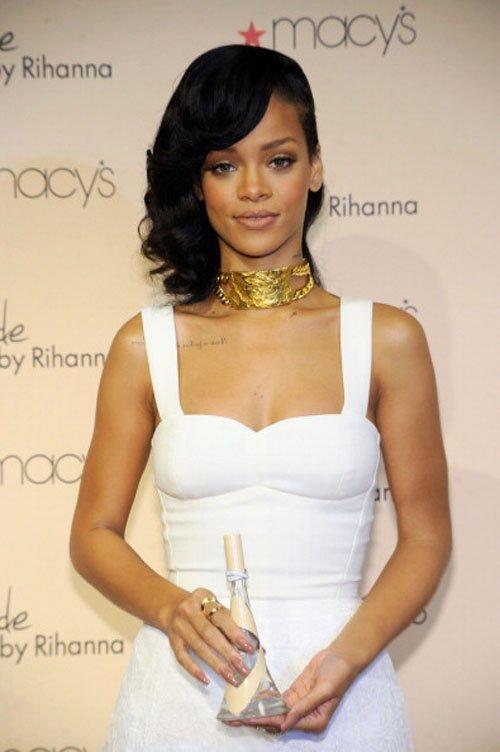 Rihanna x factor white dress neiman