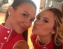Naya Rivera, Demi Lovato Pose Together on 'GLEE' Set