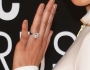 Jordin Sparks Sports BIG Sparkler on Ring Finger