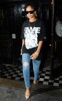 SPOTTED: Rihanna in FRANK151 x Hall of Fame T-Shirt