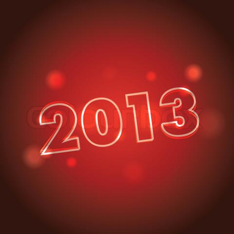 concept of logo 2013 year - illustration