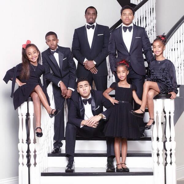Sean Combs Shares 2013 Family Christmas Photo