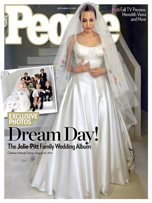Angelina Jolie Covers PEOPLE in her Wedding Gown  
