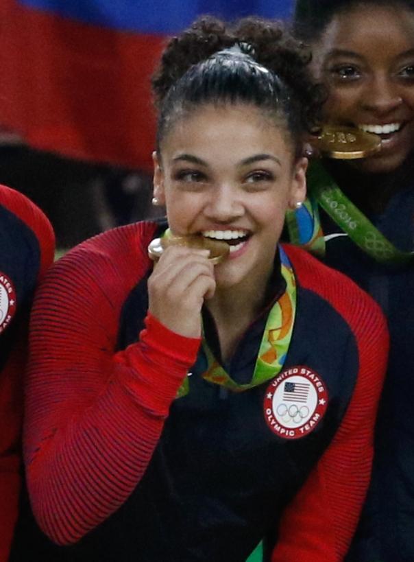 Rio de Janeiro - Ginastas dos Estados Unidos levam medalha de ouro na disputa por equipes feminina nos Jogos Olímpicos Rio 2016, Rússia fica com a prata e China, o bronze. (Fernando Frazão/Agência Brasil)