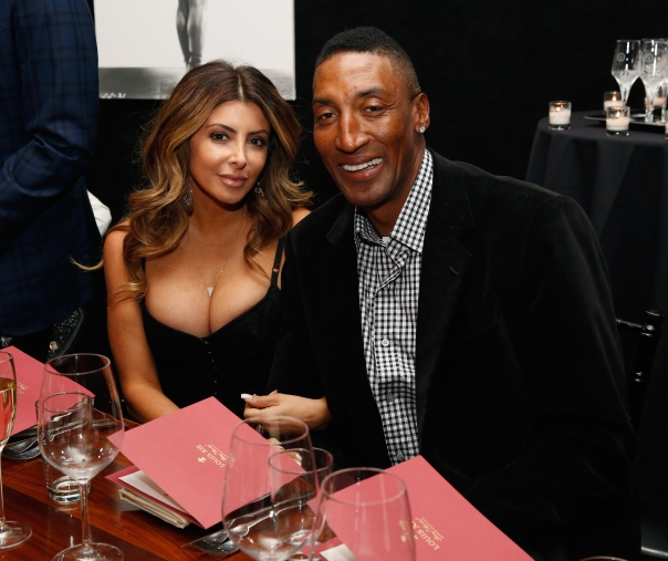 NEW YORK, NY - FEBRUARY 13:  Larsa Pippen and Scottie Pippen attend Haute Living NY And Louis XIII Cognac Collectors Dinner In Honor Of NBA All Star Weekend 2015 at STK Midtown on February 13, 2015 in New York City.  (Photo by Robin Marchant/Getty Images for Haute Living)